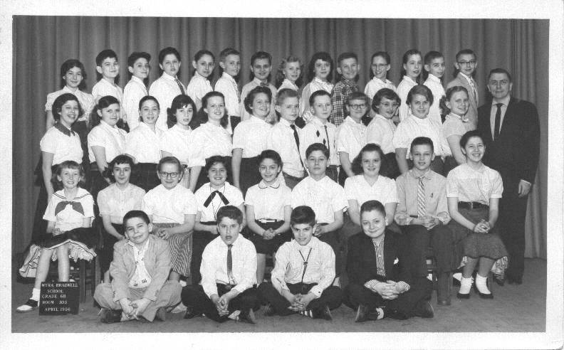 CHUCKMAN BRADWELL CLASS PICTURE - 6B - 1956 - WITH THE GREAT MR WALTER KAZMIER STANDING IN