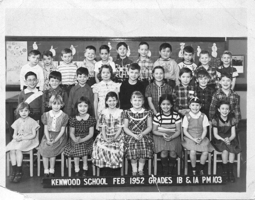 KENWOOD CLASS PICTURE 1B 1A 1952 - 53rd Street Branch Portables