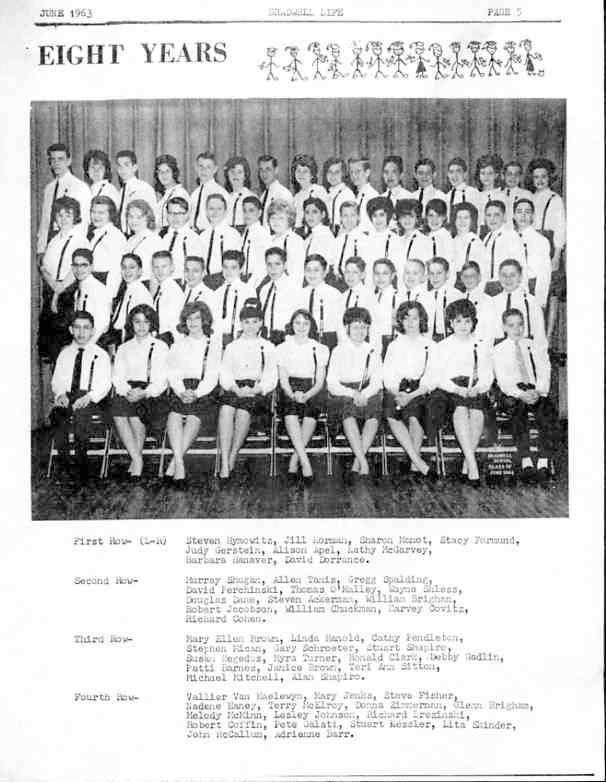 CHUCKMAN CLASS PICTURE BRADWELL - MY BROTHER BILL'S GRADUATING CLASS - POOR QUALITY OWING TO BEING FROM BRADWELL LIFE NEWSPAPER